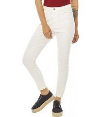 jeans básico crop mujer blanco corona