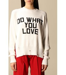 golden goose sweater golden goose cotton pullover with jacquard writing