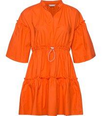 huilaus solid dress korte jurk oranje marimekko