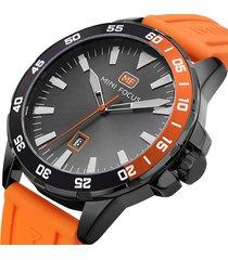 reloj mini focus mf0020g-1 para hombre naranja