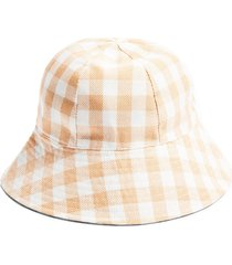 women's topshop gingham bucket hat -