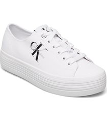 vulcanized flatform laceup co låga sneakers vit calvin klein