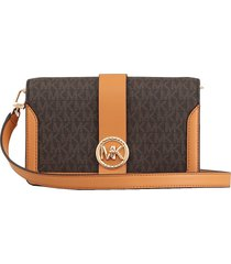 michael michael kors smooth leather charm shoulderbag