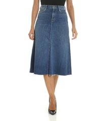 mother - the circle midi fray skirt