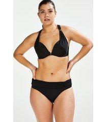 hunkemöller bikinitrosa med nedvikbar kant sunset dream svart