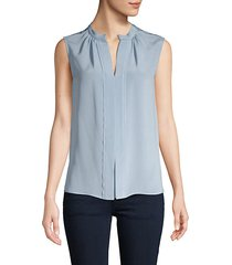 kara silk sleeveless blouse