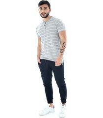 camiseta henley at home - hombre