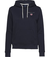 d1. medium shield hoodie hoodie trui blauw gant