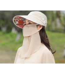 protección solar de verano sombrero de sol femenino-beige