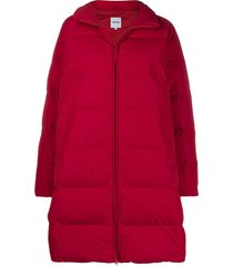 aspesi zip padded coat - red