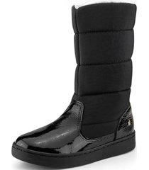 botas con piel de peluche urban boots negro