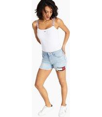 tommy jeans logo-strap bodysuit