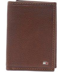 tommy hilfiger men's shelton tri-fold leather wallet