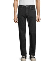 buffalo david bitton men's six x straight jeans - washed black - size 32 32