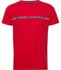 mini stripe tee t-shirts short-sleeved röd tommy hilfiger