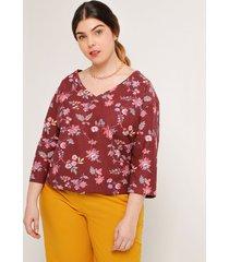 camiseta estampada flores en ramillete 16