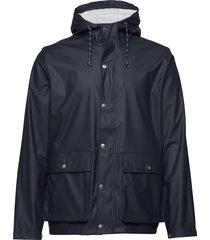 lake short rain jacket - vegan dun jack blauw knowledge cotton apparel
