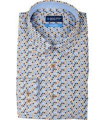 bos bright blue ward shirt casual hbd 20307wa50bo/500 multicolour