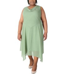 robbie bee plus size polka dot maxi dress