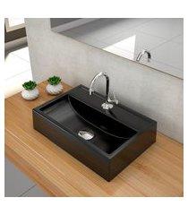 kit cuba para banheiro trevalla q45w torneira válvula 1 1/2pol preto