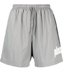 pleasures electric active shorts - grey
