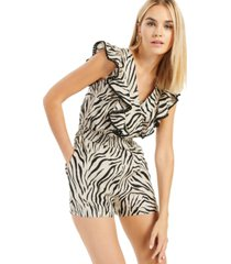 inc printed flutter-sleeve romper, created for macy's