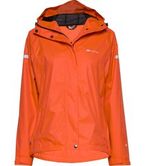hildra 2-layer technical rain jacket outerwear sport jackets orange skogstad