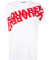 dsquared2 mirrored logo print t-shirt - white