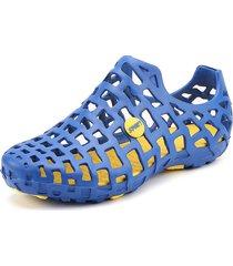 sandalias de mujer zapatos con agujero de cabeza redonda sandalias planas