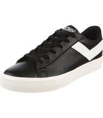 zapatilla negra  pony top star ox mini relax