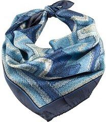 pañuelo azul bohemia estampado