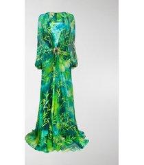 versace jungle floor-length dress