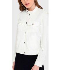 chaqueta io blanco - calce regular