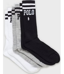 polo ralph lauren socks 3-pack strumpor multi