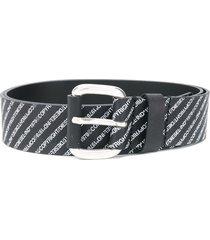 diesel logo-print belt - black
