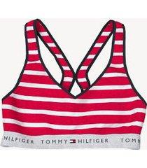 tommy hilfiger women's essential stripe bralette apple red - s