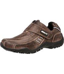 sapatenis tchwm shoes velcro couro marrom - marrom - masculino - dafiti