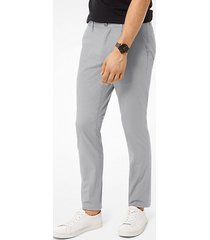 mk pantalone chino skinny in cotone stretch - lega (arancio) - michael kors