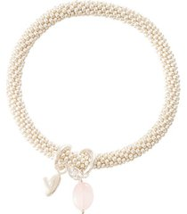 armband a beautiful story jacky rose quartz heart silver plated bracelet