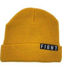 gorro de lana amarillo fight for your right beanis almendra