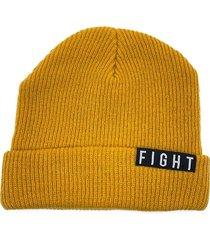 gorro de lana amarillo fight for your right