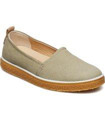 crepetray ladies loafers låga skor grön ecco