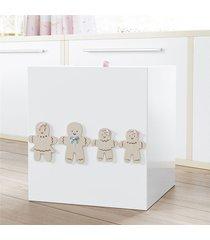 lixeira bebe menina família biscoito grão de gente rosa