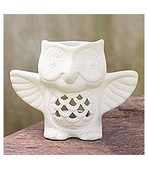 ceramic oil warmer, 'welcome owl' (thailand)