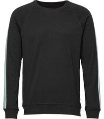 cotton rib stelt tape sweat-shirt tröja svart mads nørgaard
