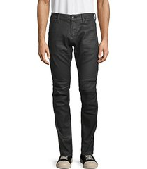 coated skinny moto jeans