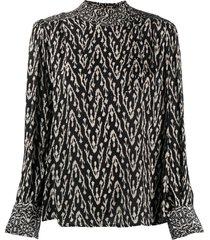 ba & sh isla shift blouse - black