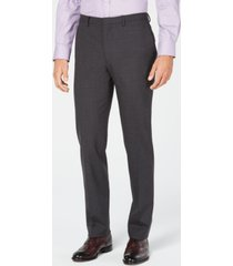 cole haan men's grand. os wearable technology slim-fit stretch solid suit pants
