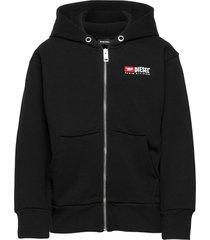 salbyzip over sweat-shirt hoodie trui zwart diesel