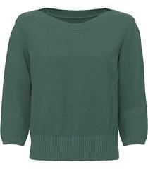 pullover van bio-katoen met boothals, zeegras 44/46